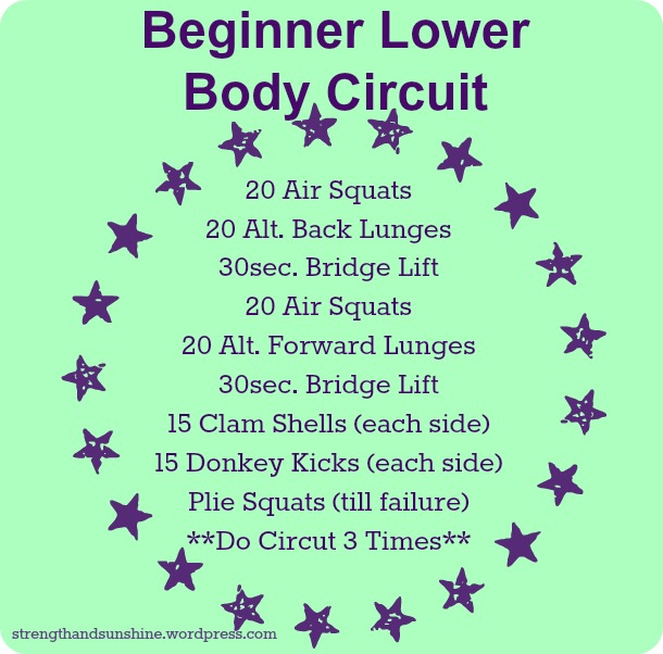 Beginner Lower Body Circuit