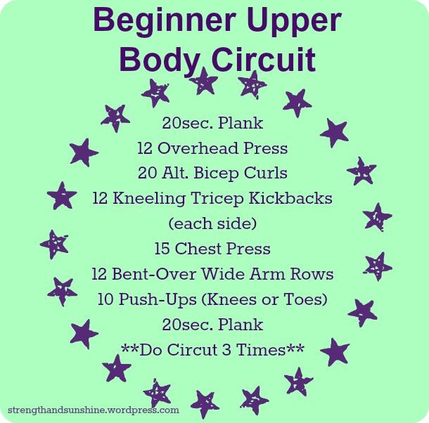 Beginner Upper Body Circuit
