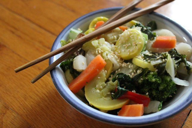 Sesame Asian Veggie Steam // Strength and Sunshine