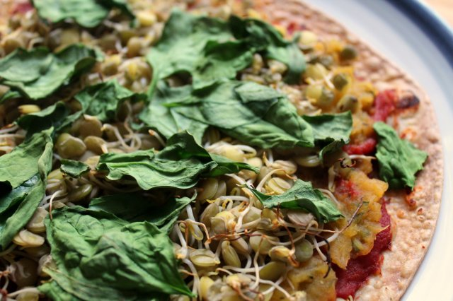 Sprouted Lentil Butternut Squash Pizza 2
