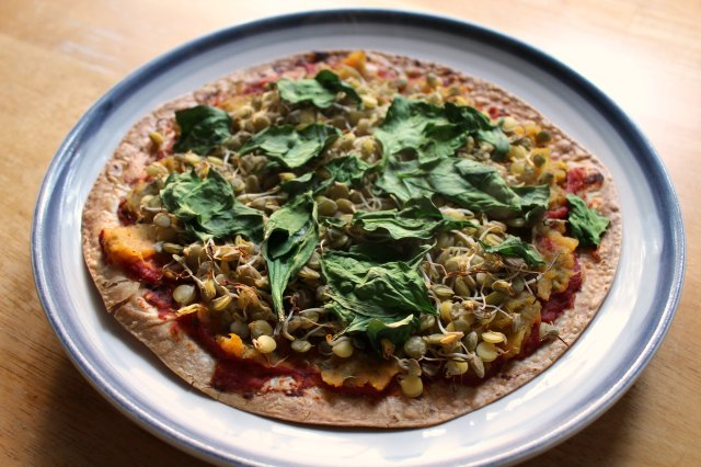 Sprouted Lentil Butternut Squash Pizza 3