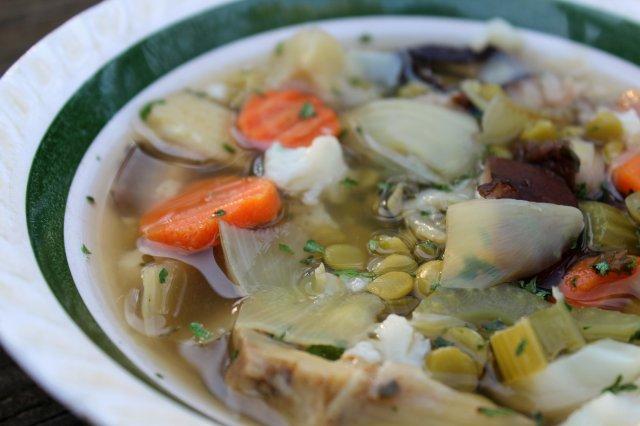 Artichoke and Shiitake Mushroom Split Pea Soup 4