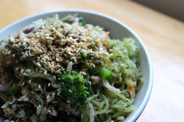 Chinese Salmon, Veggie, Noodle Stir-Fry 3