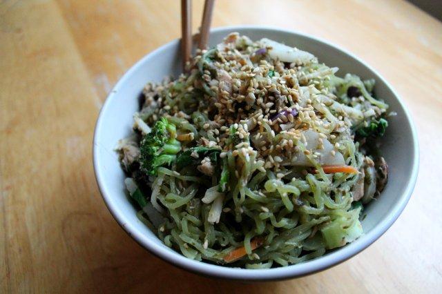 Chinese Salmon, Veggie, Noodle Stir-Fry 5