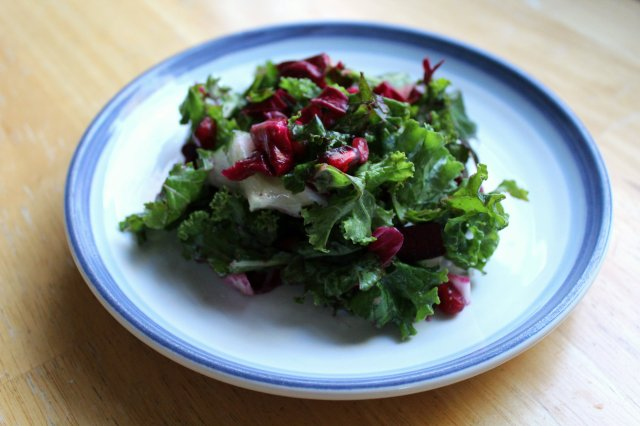 Red Winter Kale Salad 1