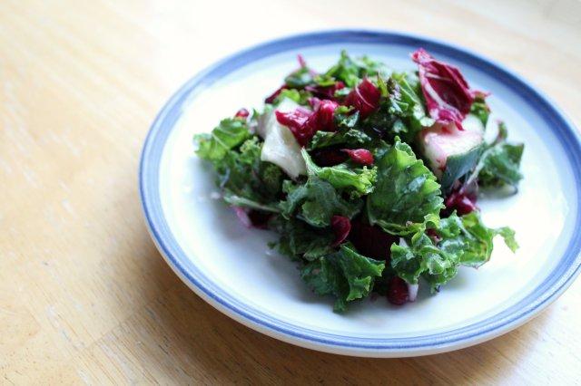 Red Winter Kale Salad 5