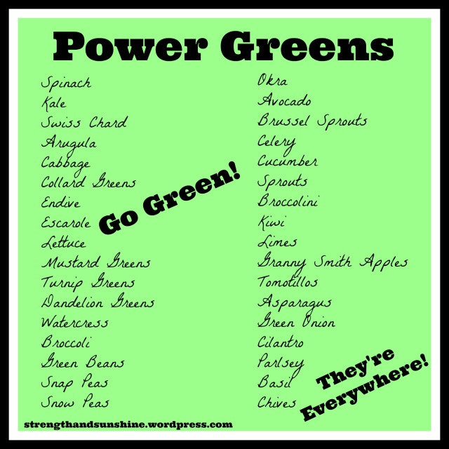 Power Greens | Strength and Sunshine