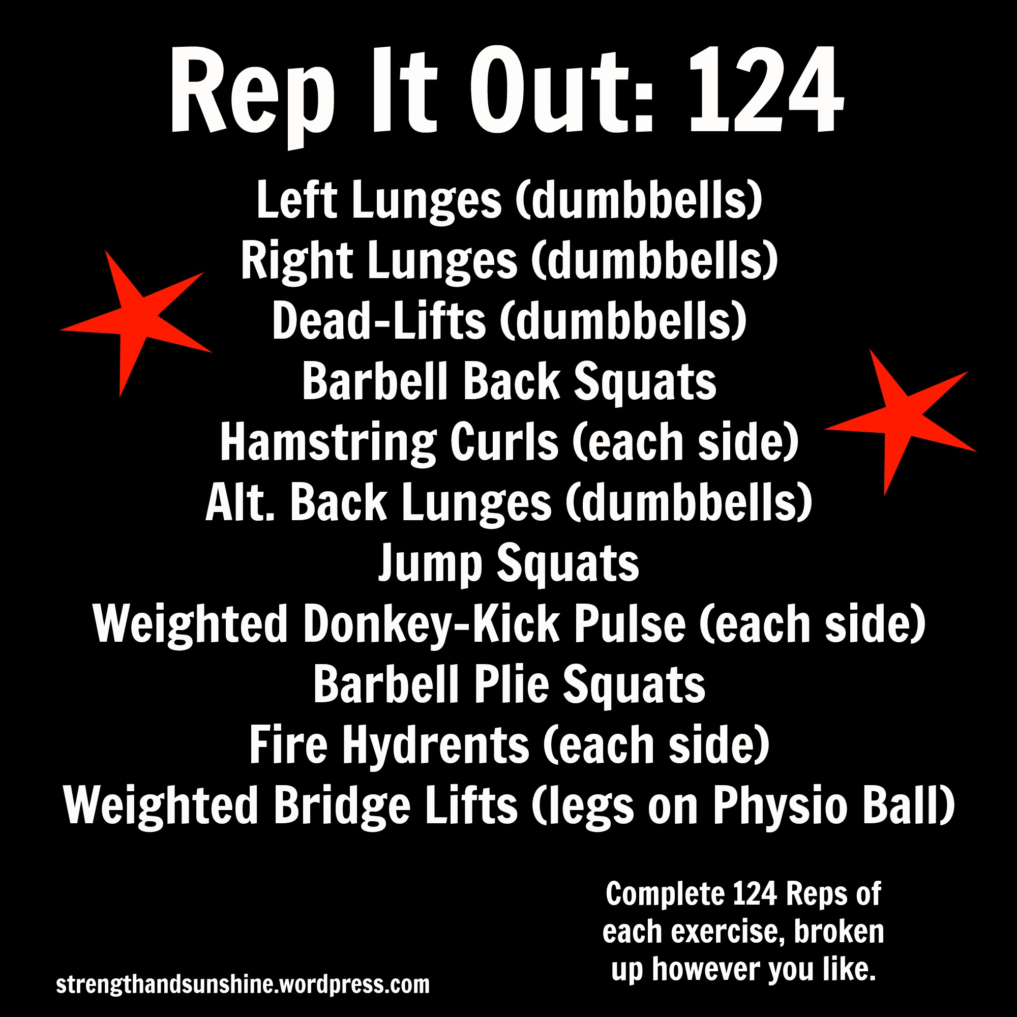Rep It Out: 124 | Strength and Sunshine