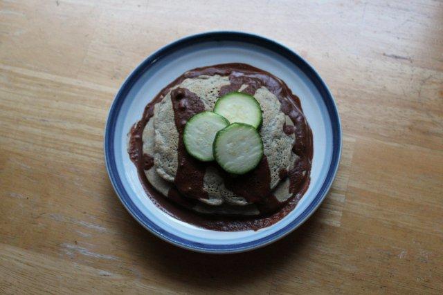 Zucchini Buckwheat Peanut Pancakes 4