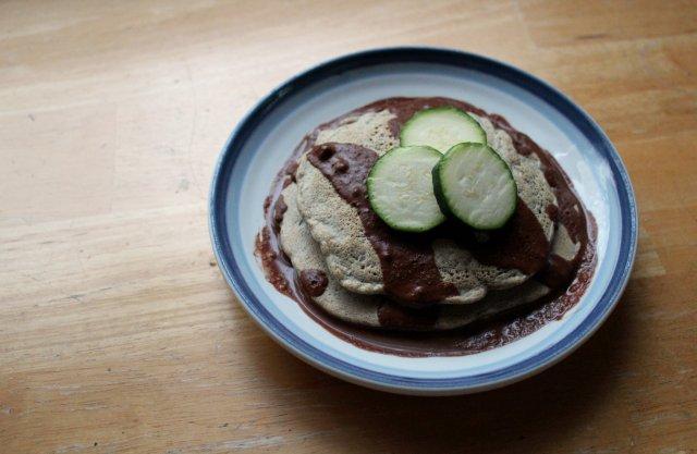 Zucchini Buckwheat Peanut Pancakes 5