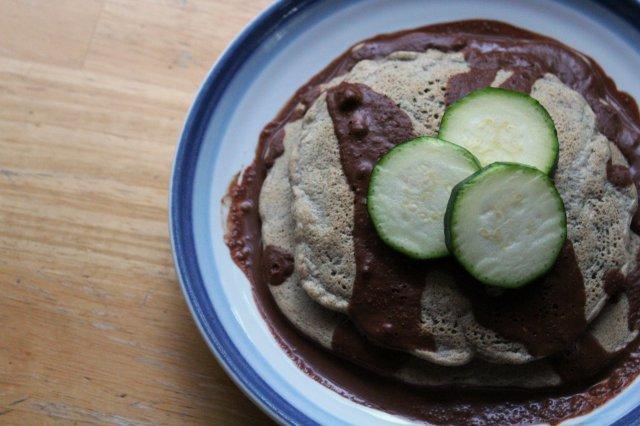 Zucchini Buckwheat Peanut Pancakes 6