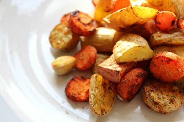 Dill Roasted Fingerling Potatoes and Carrots 2