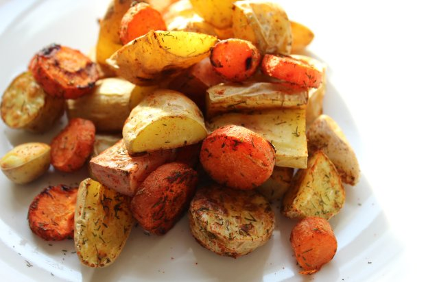 Dill Roasted Fingerling Potatoes and Carrots 3