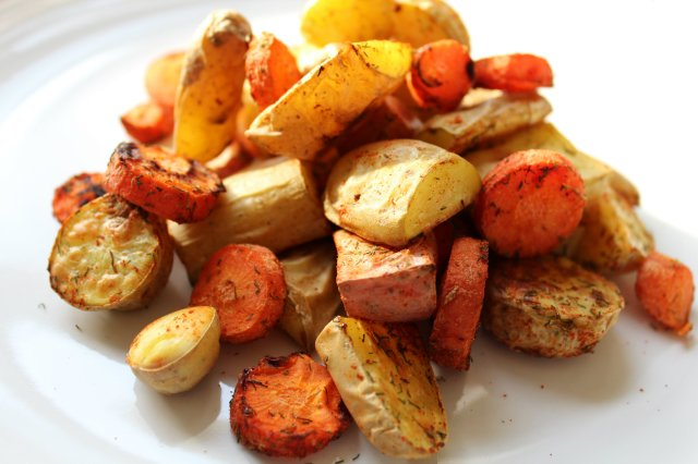 Dill Roasted Fingerling Potatoes and Carrots 5