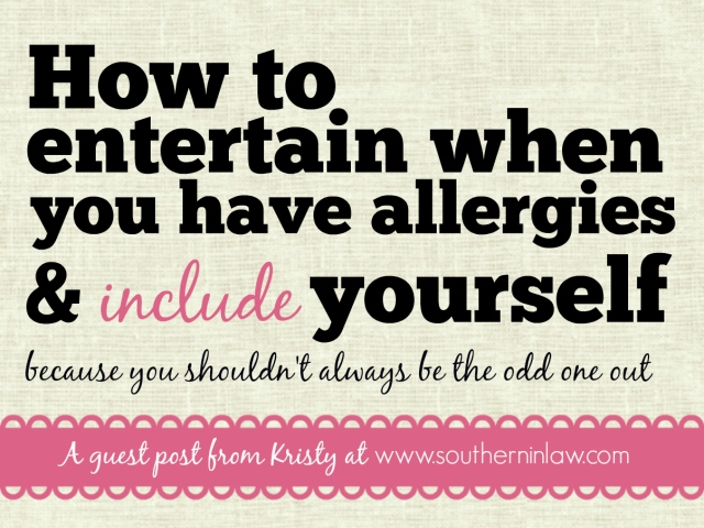 How to entertain when you have allergies