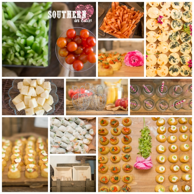 Reception Food Collage