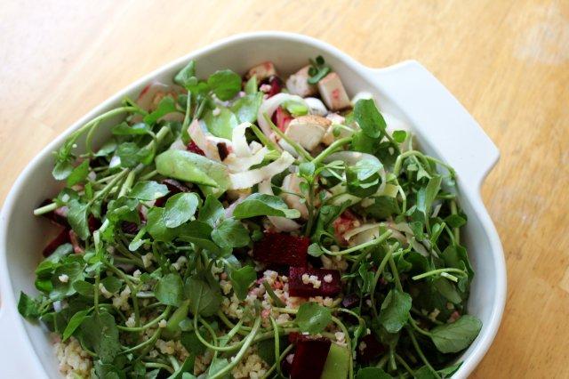 Fresh Spring Millet Salad 1