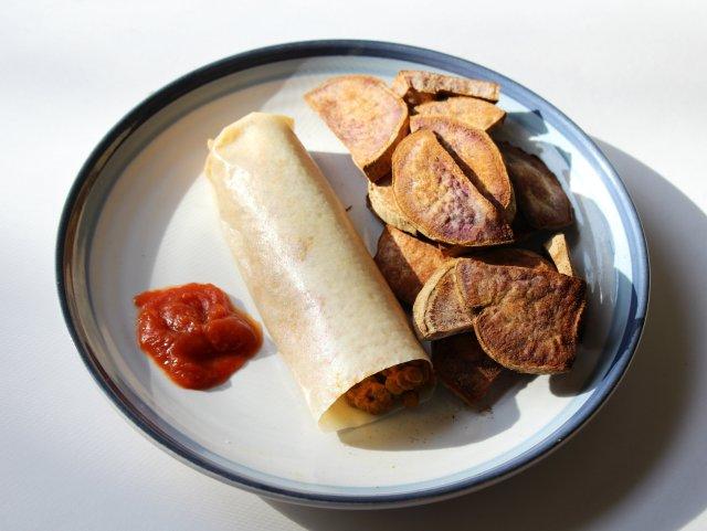 Lentil Paleo Wrap Burrito 3