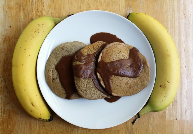 Banana Butterscotch Pancakes   Strength and Sunshine